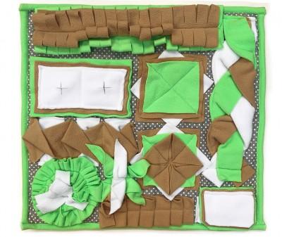 Нюхательный коврик 50*50 / зелено-бежевый