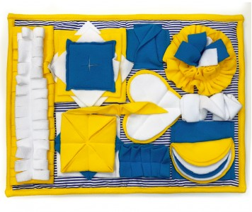 Нюхательный коврик 50*38 / желтый...