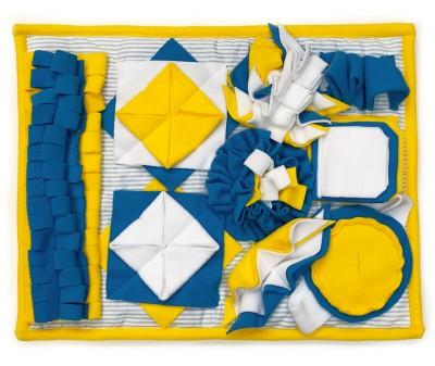 Нюхательный коврик  50*38 / желтый, мод 2