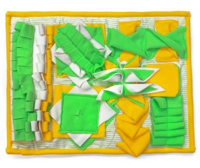 Нюхательный коврик 50*38 /  желтый, мод 3