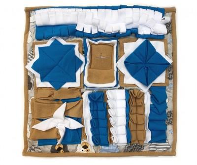 Нюхательный коврик 50*50 / коричнево-синий