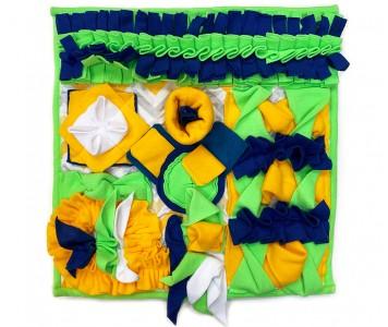 Нюхательный коврик 50*50 /  зелено-...