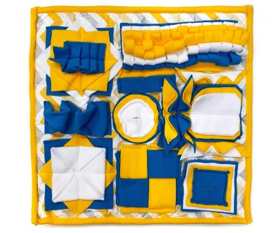 Нюхательный коврик 50*50 /  желтый
