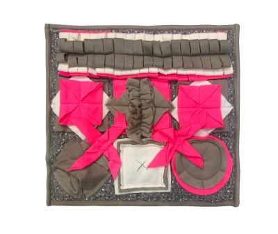 Нюхательный коврик 46*46 / розовый, мод 6