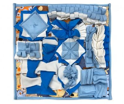 Нюхательный коврик 50*50 / синий, мод 1