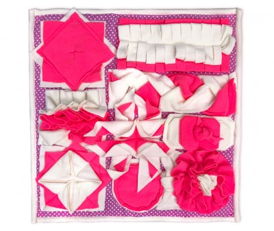 Нюхательный коврик 50*50 / розовый, мод 2