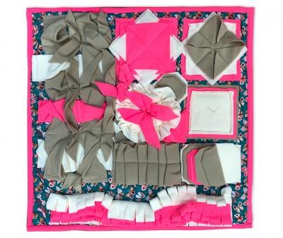 Нюхательный коврик 50*50 / розовый, мод 4
