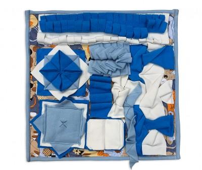 Нюхательный коврик 50*50 / синий, мод 2