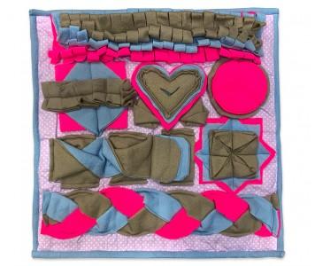 Нюхательный коврик 50*50 /  розовый...