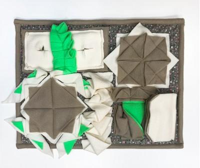 Нюхательный коврик 44*33 / серо-зеленый, мод 2