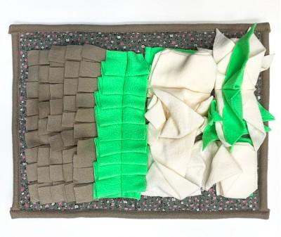 Нюхательный коврик 44*33 / серо-зеленый, мод 1