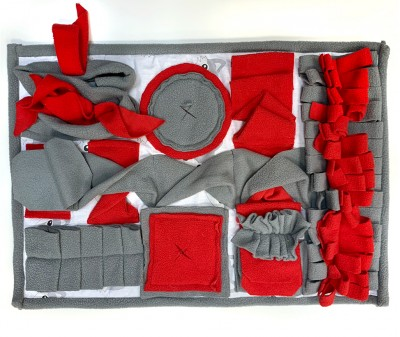 Нюхательный коврик 50*36 / серо-красный