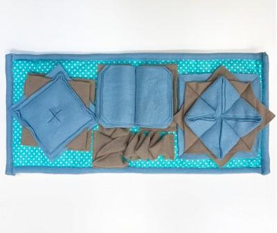 Нюхательный коврик 50*26 / голубой, мод 1
