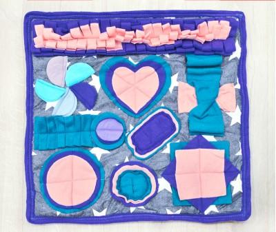 Нюхательный коврик 50*50 см / синий,  мод. 1