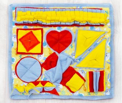 Нюхательный коврик 50*46 | желтый