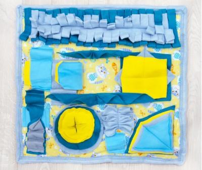 Нюхательный коврик 50*46 см / голубой, мод. 1