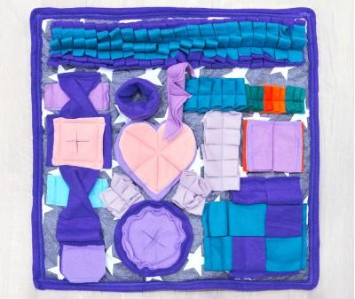 Нюхательный коврик 50*50 / синий,  мод. 2