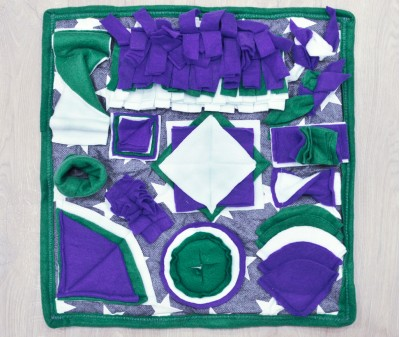 Нюхательный коврик 50*50 / зелено-синий