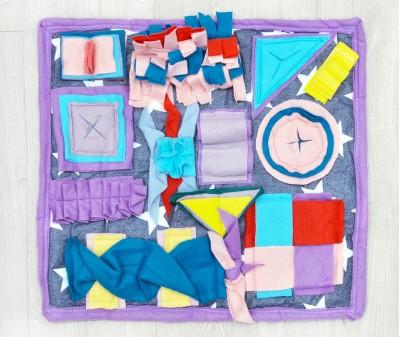 Нюхательный коврик 50*43 см / цветной