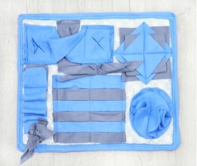 Нюхательный коврик 50*43 см / голубой, мод 2