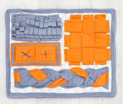 Нюхательный коврик 52*40 / оранжево-серый