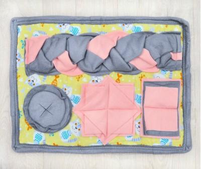 Нюхательный коврик MINIK 45*35 см / розовый, мод. 2