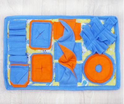 Нюхательный коврик 51*32 / оранжево-голубой