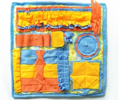 Нюхательный коврик 50*50 / желто-голуб , мод 1