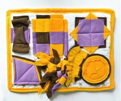 Нюхательный коврик 50*40 / желто-сирен, мод 2