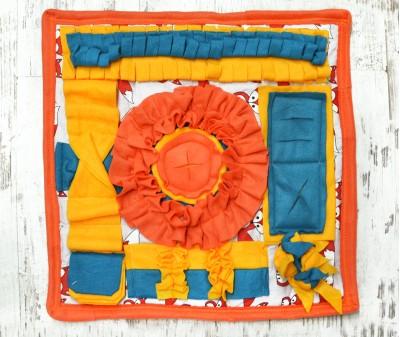 Нюхательный коврик 50*50 / оранжевый