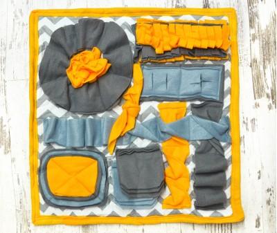 Нюхательный коврик 50*50 см / желтый