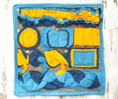 Нюхательный коврик 50*50 см / голубой, мод 2