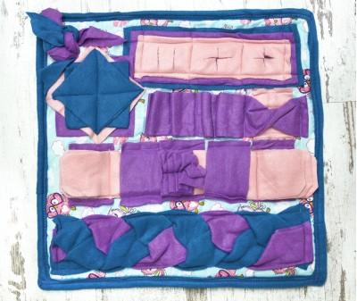 Нюхательный коврик 50*50 см / фиолетовый, мод 1