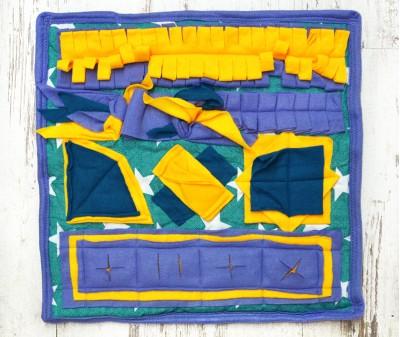 Нюхательный коврик 50*50 / сине-желтый