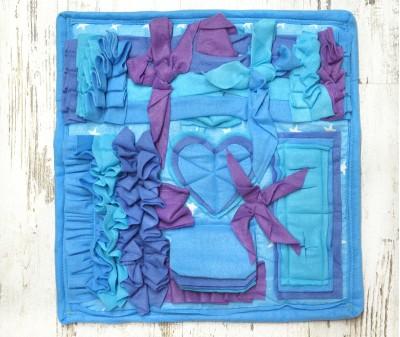 Нюхательный коврик 50*50 / голубой, мод 3