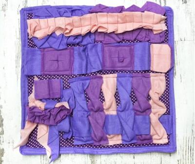 Нюхательный коврик 50*50 / фиолетовый, мод 2