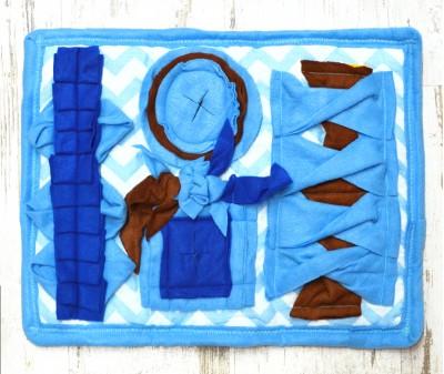 Нюхательный коврик 50*37 см  / голубой мод 4