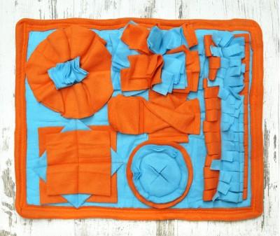 Нюхательный коврик 50*37 см / оранжевый, мод 3