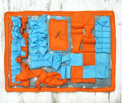 Нюхательный коврик 50*37 см / оранжевый, мод 2