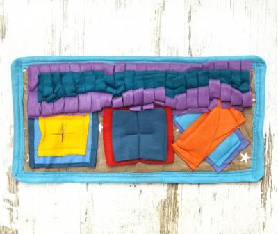 Нюхательный коврик MINIK 45*35 см / цветной, мод 1