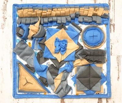 Нюхательный коврик 50*50 / голубой, мод 4