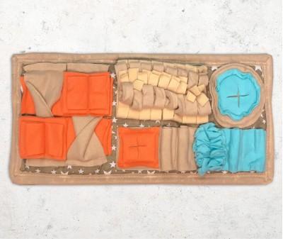 Нюхательный коврик MINIK 50*25 см  / бежевый
