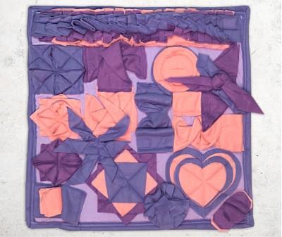 Нюхательный коврик 50*50 / фиолетовый,  мод. 3