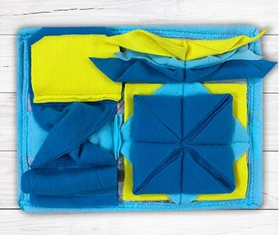 Нюхательный коврик Minik 26*22 / голубой