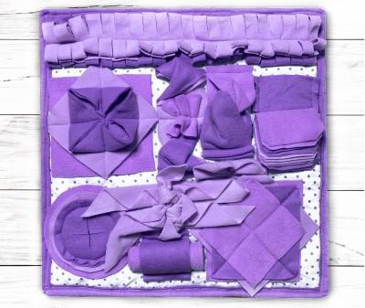 Нюхательный коврик 50*50 / сиреневый, мод 2