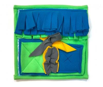 Нюхательный коврик 25*25 / зеленый