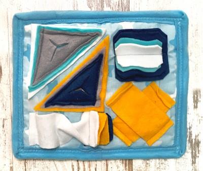 Нюхательный коврик MINIK,  голубой | 30*23 см