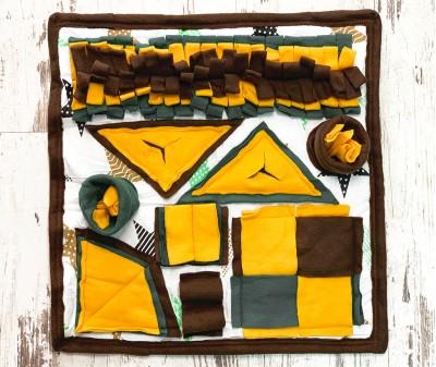 Нюхательный коврик, коричнево-желтый, мод 1 | 50*50 см