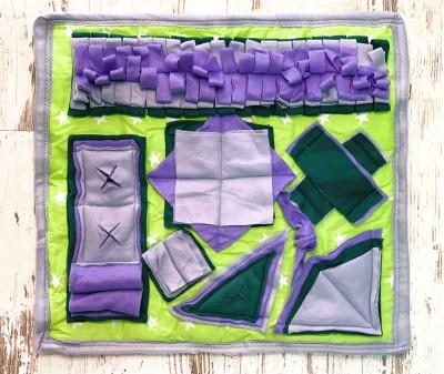 Нюхательный коврик сиренево-зелен, мод 2 | 50*50 см