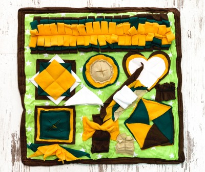 Нюхательный коврик  коричнево-желтый , мод 3 | 50*50 см